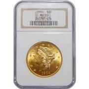 1904 Ngc MS65 $20 Liberty Head Gold