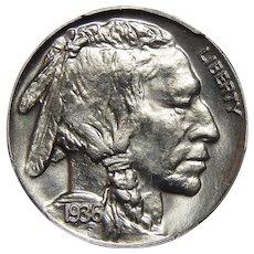 1936 Pcgs/Cac PR66 Satin Buffalo Nickel