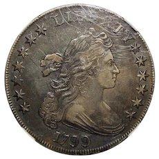 1799 Ngc XF40 Draped Bust Dollar