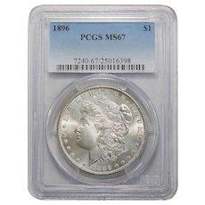 1896 Pcgs MS67 Morgan Dollar