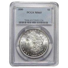 1880 Pcgs MS65 Morgan Dollar