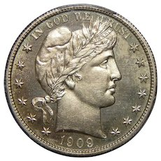 1909 Pcgs PR64 Barber Half Dollar