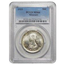 1921 Pcgs MS66 Missouri Half Dollar