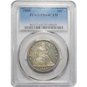 1859 Pcgs PR64CAM Liberty Seated Half Dollar