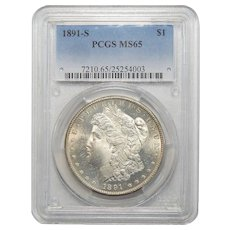 1891-S Pcgs MS65 Morgan Dollar