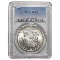 1890 Pcgs MS65 Morgan Dollar