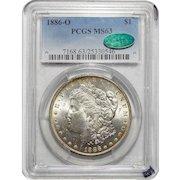 1886-O Pcgs/Cac MS63 Morgan Dollar