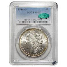 1886-O Pcgs/Cac MS63 Morgan Dollar