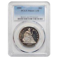 1880 Pcgs PR66CAM Liberty Seated Half Dollar