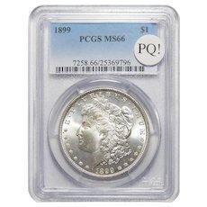 1899 Pcgs MS66 PQ! Morgan Dollar