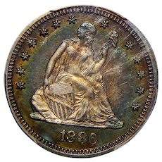 1886 Pcgs PR66 Liberty Seated Quarter