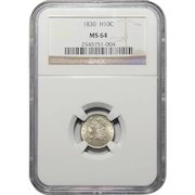 1830 Ngc MS64 Capped Bust Half Dime
