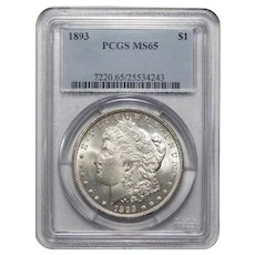 1893 Pcgs MS65 Morgan Dollar