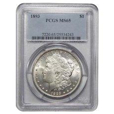 1893 Pcgs MS65 Morgan Dollar