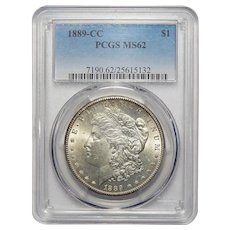 1889-CC Pcgs MS62 Morgan Dollar