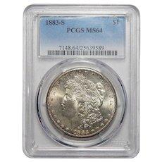 1883-S Pcgs MS64 Morgan Dollar