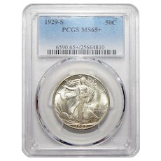 1929-S Pcgs MS65+ Walking Liberty Half Dollar