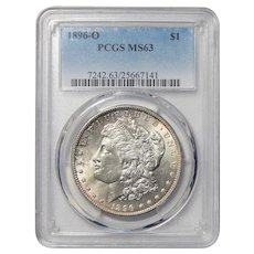 1896-O Pcgs MS63 Morgan Dollar