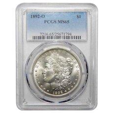 1892-O Pcgs MS65 Morgan Dollar