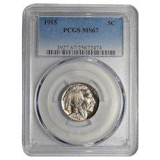 1915 Pcgs MS67 Buffalo Nickel