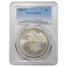 1886-O Pcgs MS62 Morgan Dollar