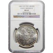 1882-O/S Ngc MS62 Strong Top-100, VAM-5 Broken-S Morgan Dollar