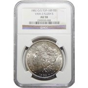1882-O/S Ngc AU58 Strong Top-100, VAM-3 Flush-S Morgan Dollar