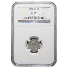 1795 Ngc XF45 Half Dime