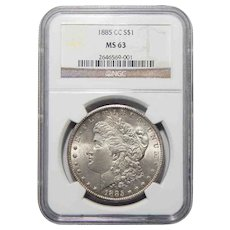 1885-CC Ngc MS63 Morgan Dollar