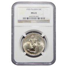 1920 Ngc MS65 Pilgrim Half Dollar