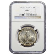 1925 Ngc MS65 Lexington Half Dollar