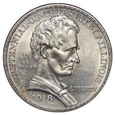 1918 Anacs MS61 Lincoln Half Dollar