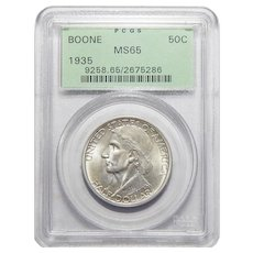 1935 Pcgs MS65 Boone Half Dollar