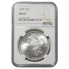 1898 Ngc MS65 Morgan Dollar