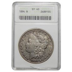 1894 Anacs XF40 Morgan Dollar