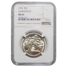 1935 Ngc MS65 Connecticut Half Dollar