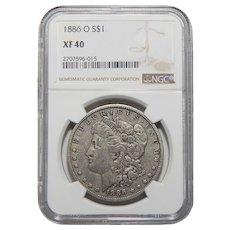 1886-O Ngc XF40 Morgan Dollar