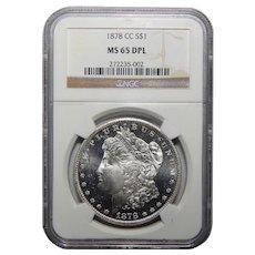 1878-CC Ngc MS65DPL Morgan Dollar