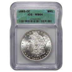 1883-CC Icg MS64 Morgan Dollar