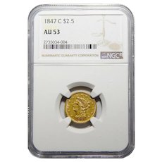 1847-C Ngc AU53 $2.50 Liberty Head Gold