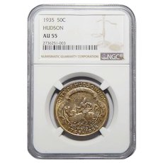1935 Ngc AU55 Hudson Half Dollar