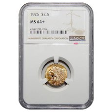 1926 Ngc MS64+ $2.50 Indian Gold