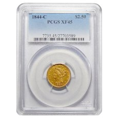 1844-C Pcgs XF45 $2.50 Liberty Head Gold