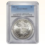 1881-CC Pcgs MS65+ Morgan Dollar