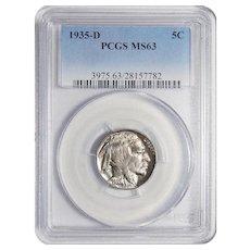 1935-D Pcgs MS63 Buffalo Nickel