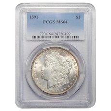 1891 Pcgs MS64 Morgan Dollar