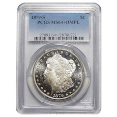 1879-S Pcgs MS64+DMPL Morgan Dollar