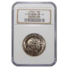 1936 Ngc MS66 Gettysburg Half Dollar Commemorative