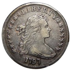 1797 Pcgs XF40 9X7 Stars, Large Letters Draped Bust Dollar