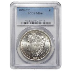 1878-CC Pcgs MS64 Morgan Dollar